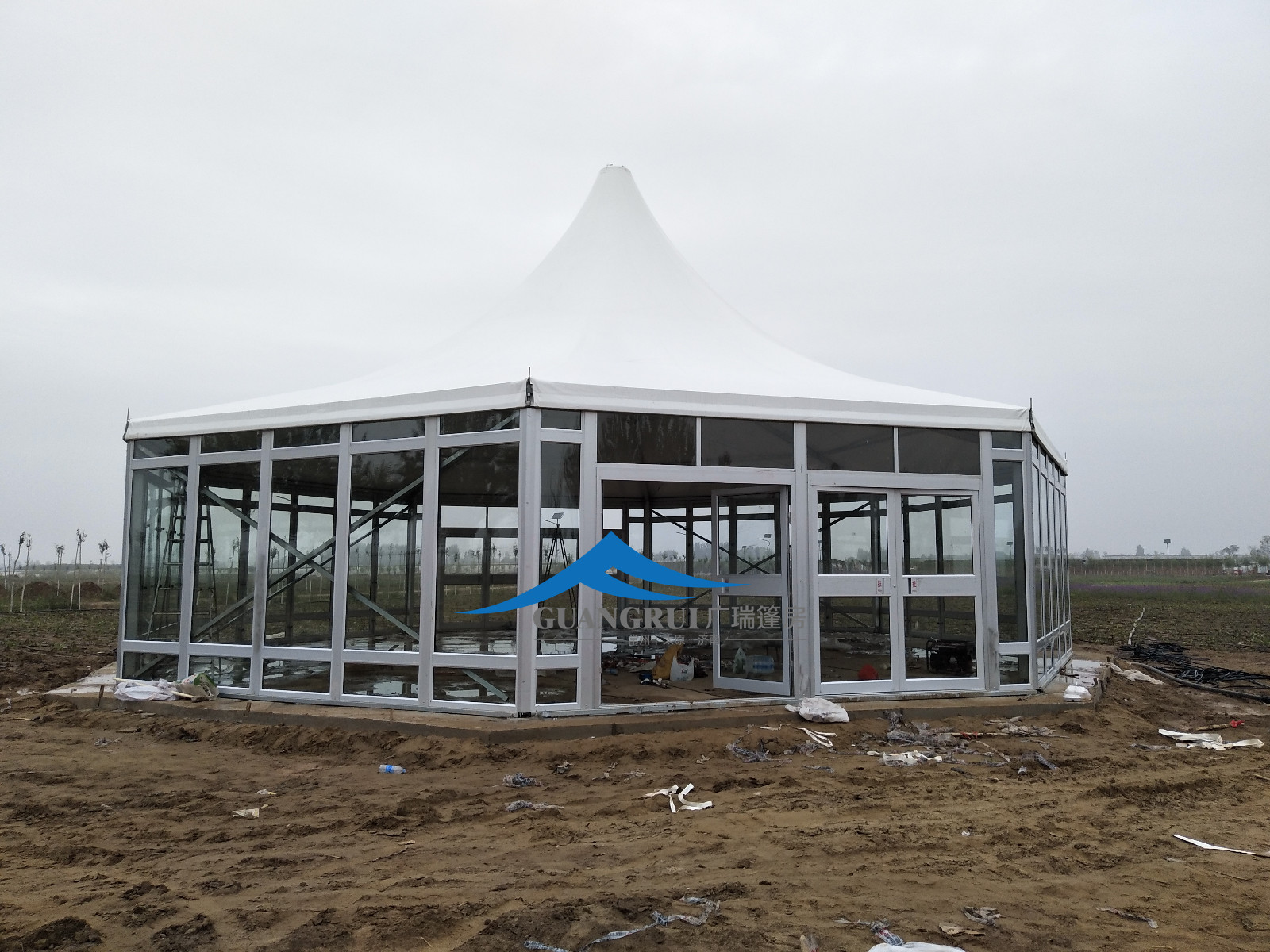 广瑞为银川花博会打造多边形篷房