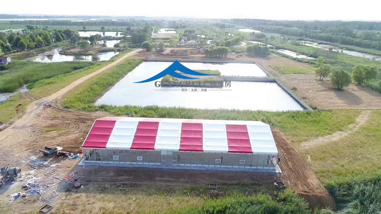 2017年广瑞篷房为青岛莱西锦绣江山湿地公园搭建了活动篷房